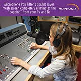 Auphonix 6-Inch Microphone Pop Filter. Double Mesh Screen. Bonus Recording Tips and Tricks Ebook