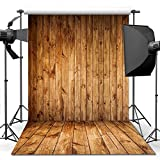 ANVOT Photography Backdrop, 5x7 ft Wooden Floor Backdrop For Studio Props Photo Backdrop