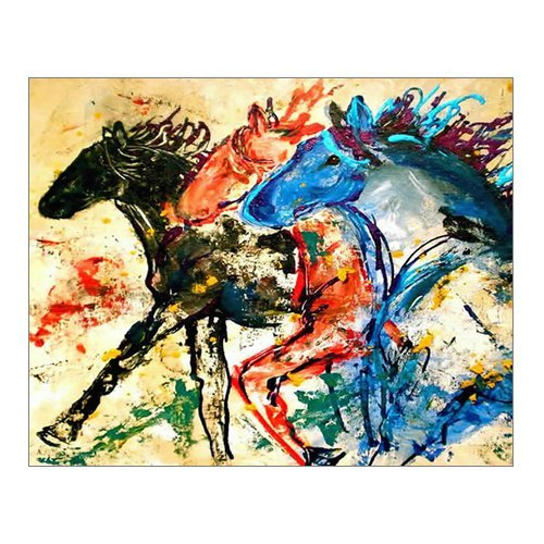 abstract animal painting