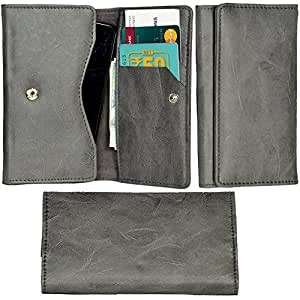R&A Pu Leather High Quality Wallet Pouch Case Cover With Card Slot & Note Slots,Soft Inner Velvet For Micromax Canvas Nitro 2 E311