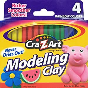 Amazon.com: Cra-Z-art Modeling Clay, Pack of 4 (10900