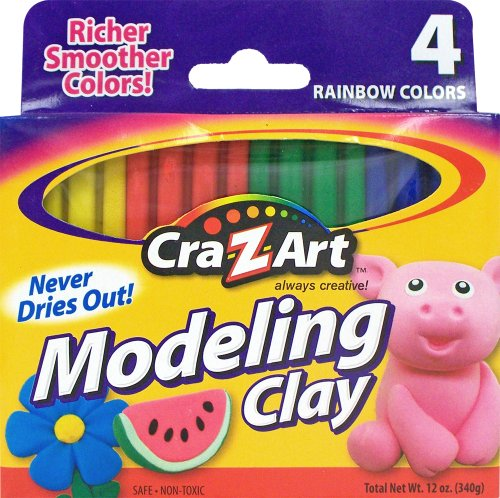 Cra-Z-art Modeling Clay, Pack of 4 (10900) - 1