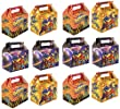 VALUE PACK 12 x Super Hero Paper Lunch Box Going Home Present Picnic Boxes