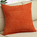 Corduroy Solid Square Throw Pillow Cover - 20