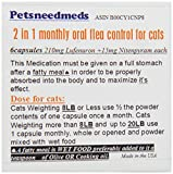 Finally a BROAD SPECTRUM (2in1) for Cats 2-15LB Flea Control oral Capsules. NOW 210 mg LUFENURON + 15mg NITENPYRAM in each capsule Once a month TUNA flavored (Compare to Program