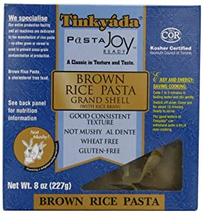 Tinkyada Brown Rice Pasta Grand Shell with Bran, 8-Ounce Unit (Pack of 12)