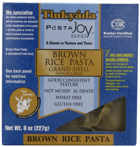 Tinkyada Brown Rice Pasta, Grand Shell, 8 Ounce (Pack of 12) (Grand Gourmet Pasta compare prices)