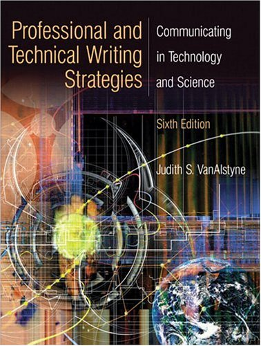 Professional and Technical Writing Strategies:...
