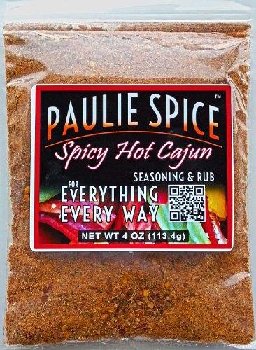 Cajun Seasoning Hot & Spicy Blend : Amazing On Ribs, Chicken,Wings, Fish, Seafood, Pork : 4 Oz