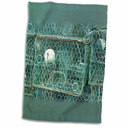3dRose Florene - Nautical Décor - Image of Real Crab Traps Everglades City Florida - 12x18 Towel (twl_233754_1) (Crab Trap Hotel compare prices)