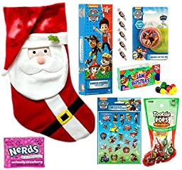 Christmas Paw Patrol Deluxe Gift with Nerds and Tootsie Roll Set (15 Pieces)