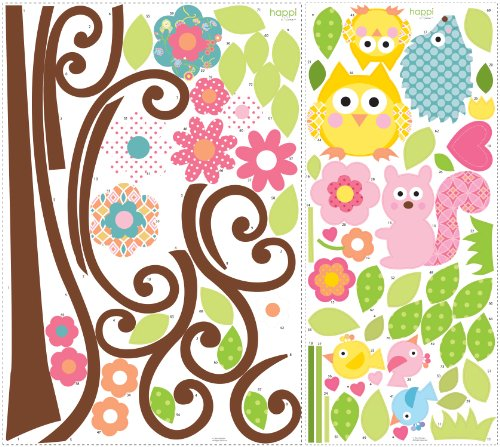 Read More RoomMates RMK1439SLM Scroll Tree Peel & Stick Wall Decal MegaPack