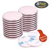 """20Pack Neodymium Disc Magnets, Super Strong Rare Earth Magnets with 20Pack Adhesive Backing, for Fridge, Scientific, Crafts, DIY, Office, 1.26""""D X 0.08""""H"""