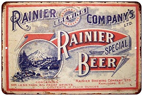 Rainier Special Beer Vintage Look Reproduction Metal Sign 8x12 8123113 (Rainier Beer Sign compare prices)