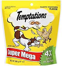 TEMPTATIONS Classic Treats for Cats Tasty Chicken Flavor 12 Ounces (Pack of 5)