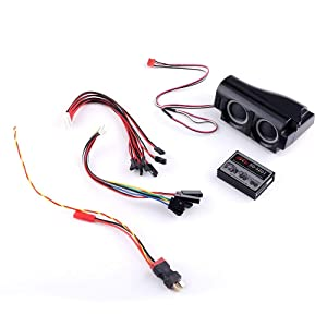 Part & Accessories 3 in 1 RC Car Engine Simulator System Emulational Lighting Smoke Sound Set for TRX4 XB HB Racing D418 Axial SCX10
