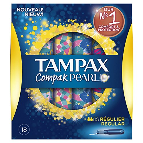 Tampax Compak Pearl tamponi regolari con applicatore X18 - Set di 3