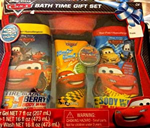 Disney Pixar Cars Bath Time Gift Set by MZB Accessories