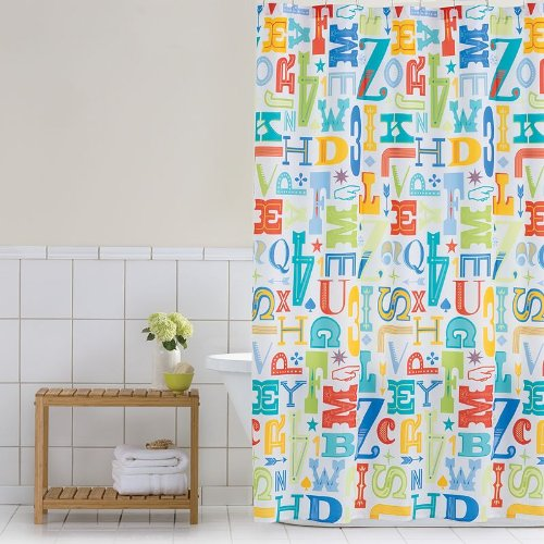 Home Classics Letter Press Peva Shower Curtain front-519300