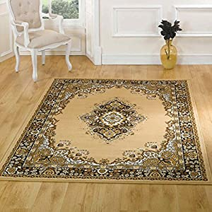 Flair Rugs Element Lancaster Traditional Rug, Beige, 80 x 150 Cm by Flair Rugs