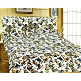 Factorywala Floral Print Super Soft And Warm Micro Fiber Single Bed Reversible Dohar/AC Comfort/Blanket/Quilt ( Size 60X 90 Inch) Get Free 1 Gold Plated Alloy Chain
