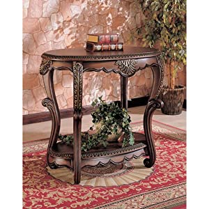 Cheap Elegant Warm Brown Finish Entryway Accent Console Table End Tables Furniture Decor Thanhluan00022