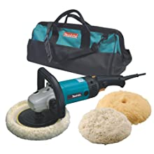 Makita 9227CX3 7-Inch Hook and Loop Electronic Polisher-Sander with Polishing Kit