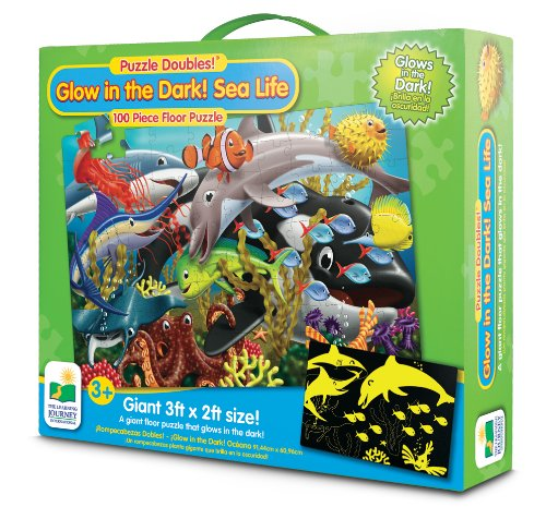 The Learning Journey Glow In The Dark Sea Life Puzzle