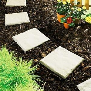 8er Set Gehwegplatten, Beetplatten, Gartenplatten, Gartenfliesen