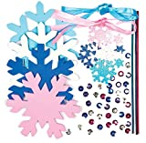 Snowflake Magic Wand Kits for Children to Make and Decorate (Pack of 4)