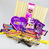 Cadbury Love You Mum Treasure Box - Cadbury With Love Heart, Selection Of Cadbury Chocolate - By Moreton Gifts - Great For Mother's Day, Thank You Gift, Birthday