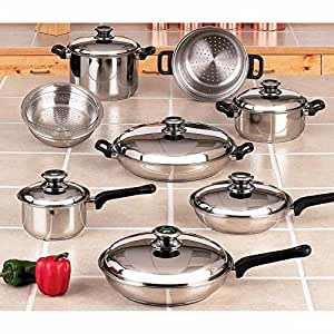 Element cookware set with thermo control knobs for Kitchen set node attributes