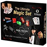 MAGIC TRICKS SET - The Ultimate Magic Tricks Set for Kids and Grownups Alike - Over 200 Magic Tricks Revealed and Explained in the Set,  Plus a 60 Minute Magic Tricks DVD Tutorial. - The Ultimate Magic Tricks Kit is Made in USA and Includes Classic Magic Tricks and Secrets of The Great Magicians, Card Tricks, Easy Tricks, Sponge balls, a Penetration Frame, Chain Escape, Magic Wand, Drawer Box, Rice Bowls, Wonder Blocks, Svengali Deck and Many More Amazing Magical Mysteries
