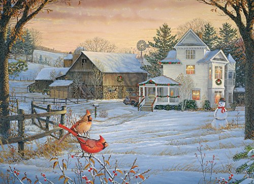 Cobble Hill Countryside Cardinals Jigsaw Puzzle, 1000-Piece