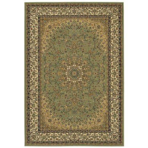 Couristan Izmir Royal Kashan Oriental Rug - Sage-Ivory Border Size - 7.10 x 11.2 ft.