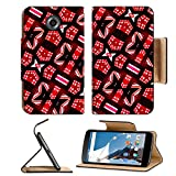 Motorola Google Nexus 6 Flip Pu Leather Wallet Case Geometric abstract digital photo collage technique futuristic pattern background in IMAGE 36960054 by MSD Customized Premium