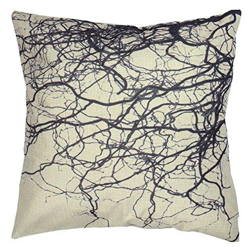 Luxbon verwelkt Baum Kissenbezug 45 x 45 cm Lendenkissen Bettkissen Pillowcase Hülle Haus Couch Stuhl Zimmer Auto Deko