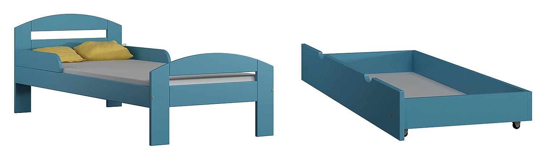 Kinderbett TIMI Massivholz, inkl.Kokosmatratze und Schublade (160x80cm) günstig online kaufen