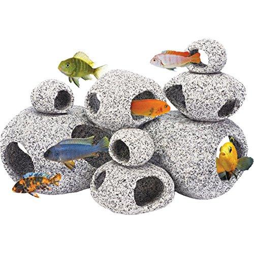 Penn plax stone replica aquarium decoration realistic for Aquarium decoration set