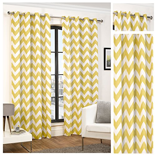 hamilton-mcbride-chevron-ochre-ring-top-eyelet-fully-lined-readymade-curtain-pair-66x54in167x137cm-a