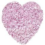 The Rug Market Shaggy Raggy Heart Pink Area RugSize 3x3 HEART