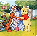 Childrens Canvas Print Featuring Disney's Pooh, Piglet, Eeyore & Tigger 35x35cm