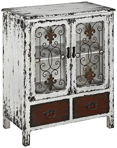 Powell Furniture Parcel 2-Door 2-Drawer Console, White 0