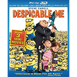 Despicable Me (3D Blu-ray + Blu-ray + DVD + Digital Copy + UltraViolet)