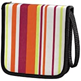 Hama Stripes 32 CD/DVD Nylon Wallet - Pink