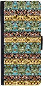 Snoogg Aztec Pattern Mustard Designer Protective Flip Case Cover For Lg G2