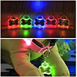 Alcoa Prime Cute Pet Safety LED Flashing Bone Pendant For Dogs Cats Pink, Blue, Red, Orange, Yellow, Green (no...