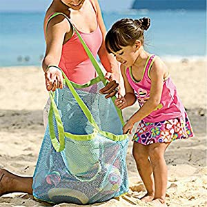 LOVEHOS Large Sand & Water Away Toys Beach Mesh Bag Tote Pouch Handbag Buggy Storage Bag by LOVEHOS