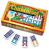 Chickenfoot Dominoes Set - Double 9 Color Coded by Puremco [Toy]