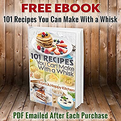 Silicone Whisk Set 10-inch and 8-inch Life Time Guarantee. Includes Free Ebook 101 Recipes to Make with Your Whisk. Great Whisks for Baking, Cooking and Mixing